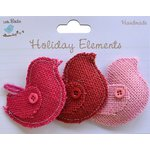 Little Birdie Crafts - Holiday Crafts Collection - Valentine - Puffy Birds