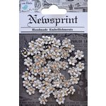 Little Birdie Crafts - Newsprint Collection - Beaded Petals Micro