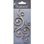 Little Birdie Crafts - Chipboard Pieces - Simple Flourishes