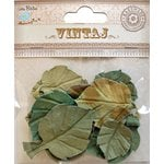Little Birdie Crafts - Vintaj Collection - Fall Leaves - Rustic Teal