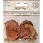 Little Birdie Crafts - Vintaj Collection - Fall Leaves - Rustic Brown