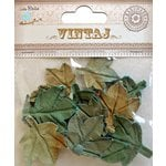 Little Birdie Crafts - Vintaj Collection - Maple Leaves - Rustic Teal