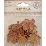 Little Birdie Crafts - Vintaj Collection - Maple Leaves - Rustic Brown