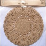 Little Birdie Crafts - Mix Media Collection - Burlap Doilies - Large - Round - 10 Inches