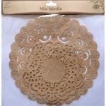 Little Birdie Crafts - Mix Media Collection - Burlap Doilies - Mixed - Round