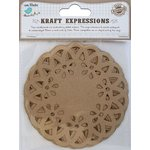 Little Birdie Crafts - Kraft Expressions Collection - Doilies - Scalloped - 4 Inches