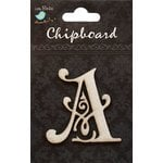 Little Birdie Crafts - Chipboard Pieces - Ornate Alphabet - A