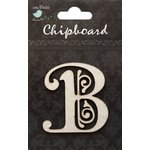Little Birdie Crafts - Chipboard Pieces - Ornate Alphabet - B