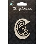 Little Birdie Crafts - Chipboard Pieces - Ornate Alphabet - C