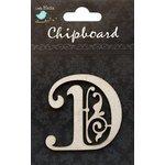 Little Birdie Crafts - Chipboard Pieces - Ornate Alphabet - D