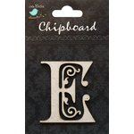 Little Birdie Crafts - Chipboard Pieces - Ornate Alphabet - E