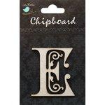 Little Birdie Crafts - Chipboard Pieces - Ornate Alphabet - E