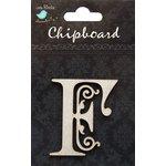 Little Birdie Crafts - Chipboard Pieces - Ornate Alphabet - F