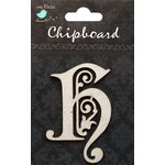 Little Birdie Crafts - Chipboard Pieces - Ornate Alphabet - H