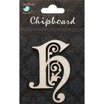 Little Birdie Crafts - Chipboard Pieces - Ornate Alphabet - H