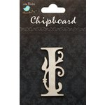 Little Birdie Crafts - Chipboard Pieces - Ornate Alphabet - I