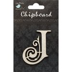 Little Birdie Crafts - Chipboard Pieces - Ornate Alphabet - J