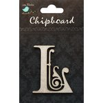 Little Birdie Crafts - Chipboard Pieces - Ornate Alphabet - L