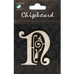 Little Birdie Crafts - Chipboard Pieces - Ornate Alphabet - N