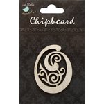 Little Birdie Crafts - Chipboard Pieces - Ornate Alphabet - O