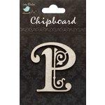Little Birdie Crafts - Chipboard Pieces - Ornate Alphabet - P