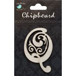 Little Birdie Crafts - Chipboard Pieces - Ornate Alphabet - Q