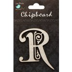 Little Birdie Crafts - Chipboard Pieces - Ornate Alphabet - R