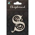 Little Birdie Crafts - Chipboard Pieces - Ornate Alphabet - S