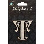 Little Birdie Crafts - Chipboard Pieces - Ornate Alphabet - T