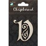 Little Birdie Crafts - Chipboard Pieces - Ornate Alphabet - V