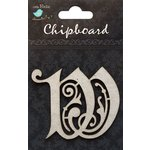 Little Birdie Crafts - Chipboard Pieces - Ornate Alphabet - W