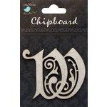 Little Birdie Crafts - Chipboard Pieces - Ornate Alphabet - W