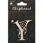 Little Birdie Crafts - Chipboard Pieces - Ornate Alphabet - Y