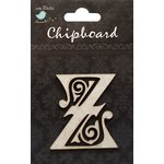 Little Birdie Crafts - Chipboard Pieces - Ornate Alphabet - Z
