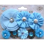 Little Birdie Crafts - Wearables Collection - Accessory - Fabric Flowers - Ocean Spray