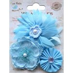 Little Birdie Crafts - Wearables Collection - Boutique Fabric Flowers - Ocean Spray