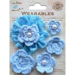 Little Birdie Crafts - Wearables Collection - Crochet Daisies - Ocean Spray