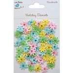 Little Birdie Crafts - Holiday Elements Collection - Spring - Jeweled Paper Florettes - Micro