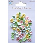 Little Birdie Crafts - Holiday Elements Collection - Spring - Beaded Paper Florettes - Micro