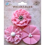 Little Birdie Crafts - Wearables Collection - Printed Fabric Flowers - Carnation Pink