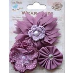 Little Birdie Crafts - Wearables Collection - Boutique Fabric Flowers - Grape Crush