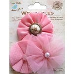Little Birdie Crafts - Wearables Collection - Frilled Fabric Flowers - Carnation Pink