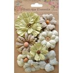 Little Birdie Crafts - Boutique Elements Collection - Symphony Flower - Spanish Moss