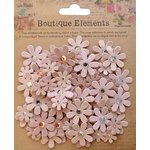 Little Birdie Crafts - Boutique Elements Collection - Jeweled Florettes - Bisque