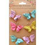 Little Birdie Crafts - Boutique Elements Collection - Beaded Butterflies - French Carnival