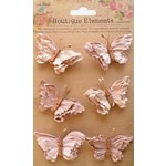 Little Birdie Crafts - Boutique Elements Collection - Beaded Butterflies - Bisque