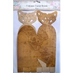 Little Birdie Crafts - Vintage Map Collection - Gift Box - Butterfly - Large