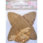 Little Birdie Crafts - Newsprint Collection - Gift Box - Pyramid - Medium