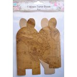 Little Birdie Crafts - Vintage Map Collection - Gift Box - Petal - Large
