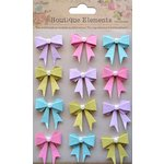 Little Birdie Crafts - Boutique Elements Collection - Pearl Bows - French Carnival